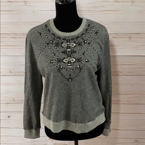 Abercrombie & Fitch Sweater With Silver Accents